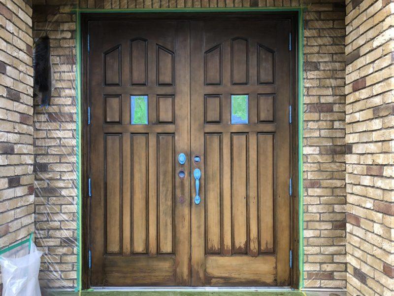 18-128  玄関ドア 塗装補修