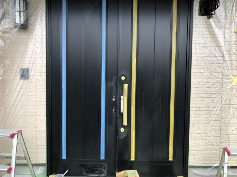 18-122  アルミ玄関ドア 塗装補修