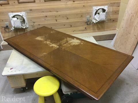 17-83 ドレクセルテーブル塗装補修