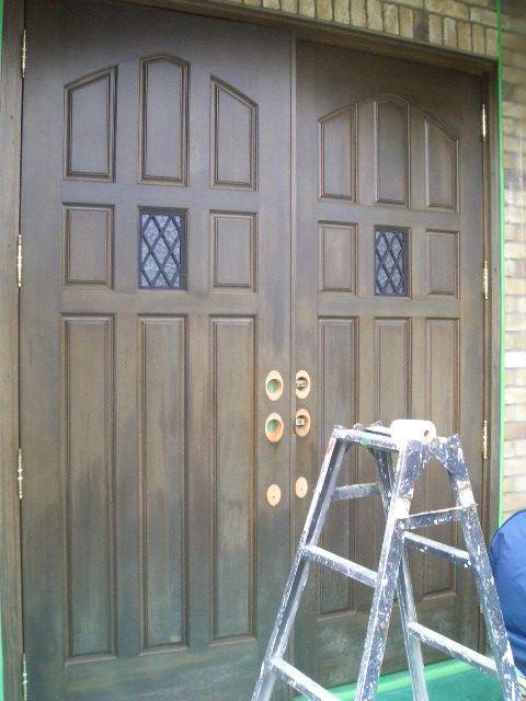 09-1  玄関ドア塗装補修