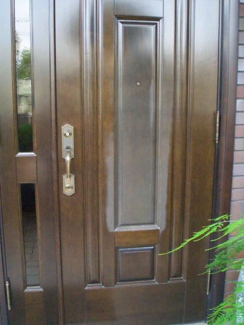 09-10 玄関ドア白化補修