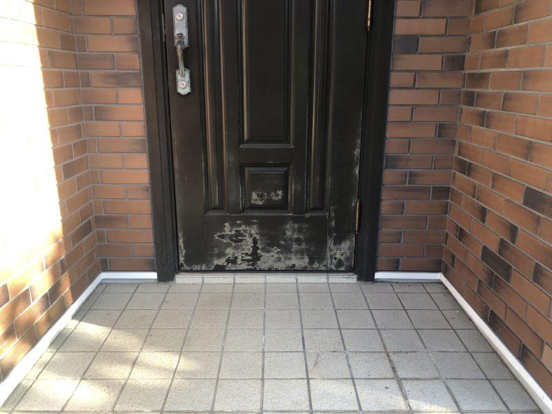 19-5  玄関ドア 塗装補修