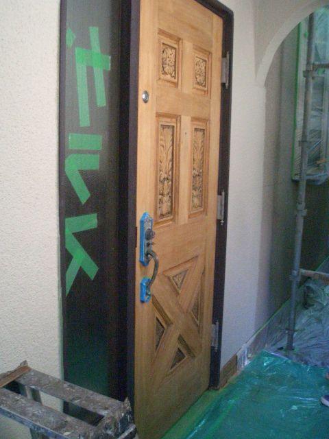 09-7 玄関ドア再塗装
