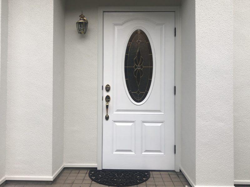 19-86 玄関ドア 再塗装