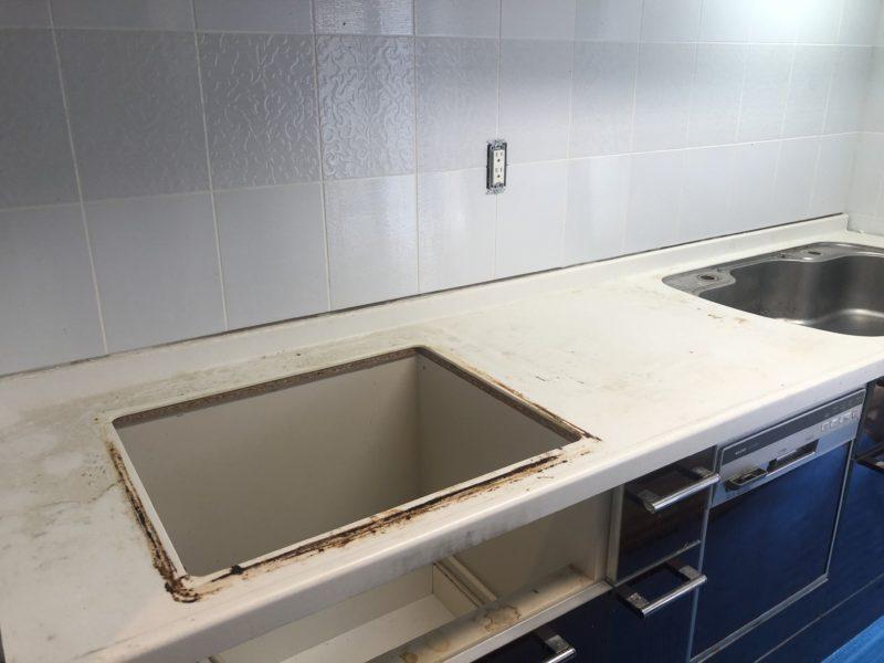 19-95 キッチン天板 磨き補修