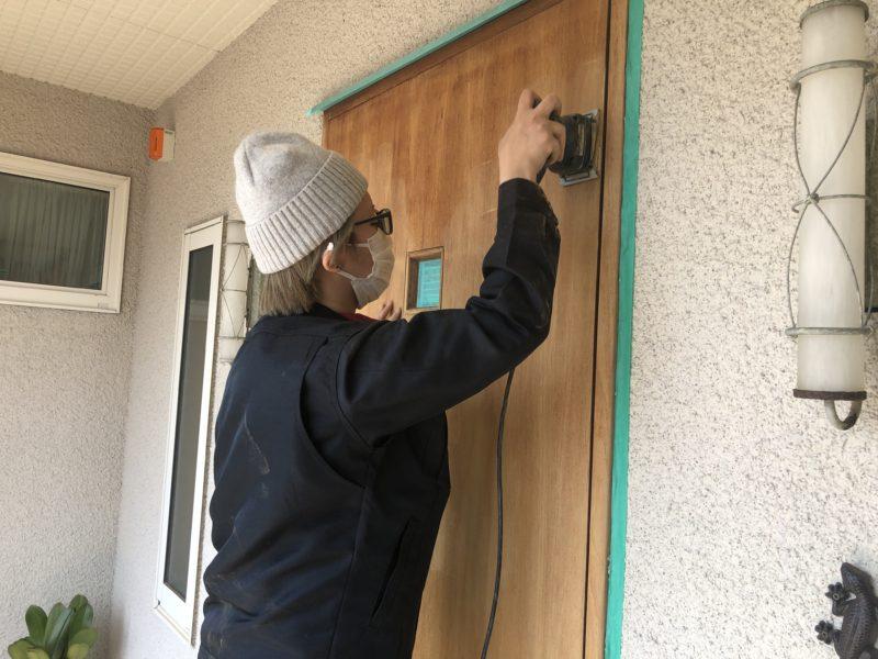 20-88 玄関ドア再生塗装